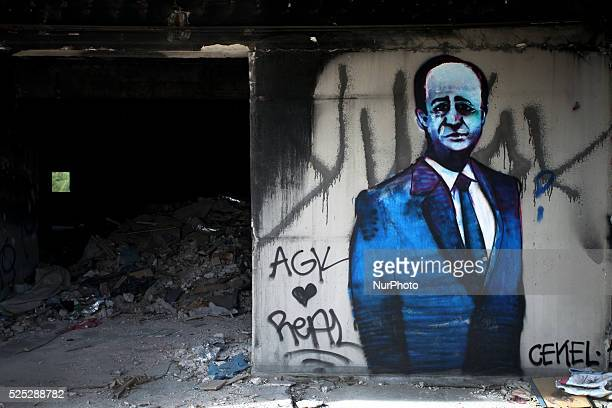 Graffiti in Athens city center April 22 2016