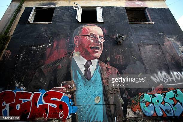 Graffiti in Athens city center Mar 29 2016