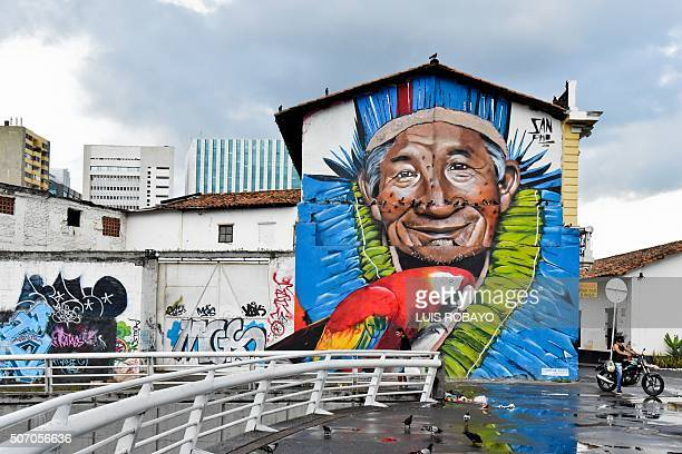 Graffiti in downtown Cali Colombia on January 9 2016 Considered vandalism in the past graffiti is enjoying a boom in Colombia where it is has even...