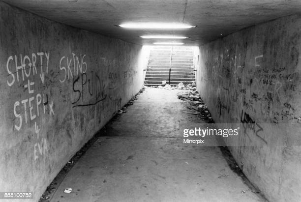 Graffiti in Pedestrian Subway Newcastle Circa 1983