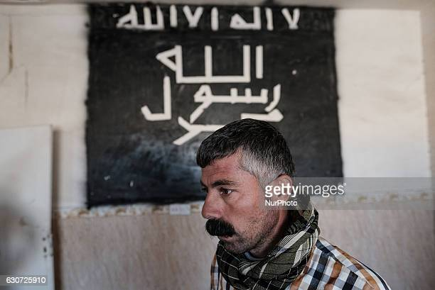 ISIL graffiti inside Kakai home where they used to have headquater for Gazakan village in Tel Laban/ Gazakan on 30 December 2016 The Kakai Kurds are...