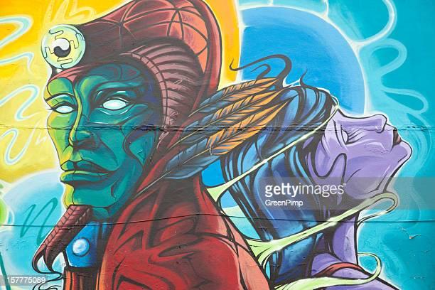Graffiti King Pharoah and Queen