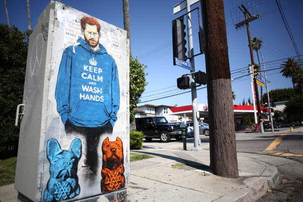 CA: A Graffiti Mural Of Prince Harry Appears In Los Angeles During Coronavirus Pandemic
