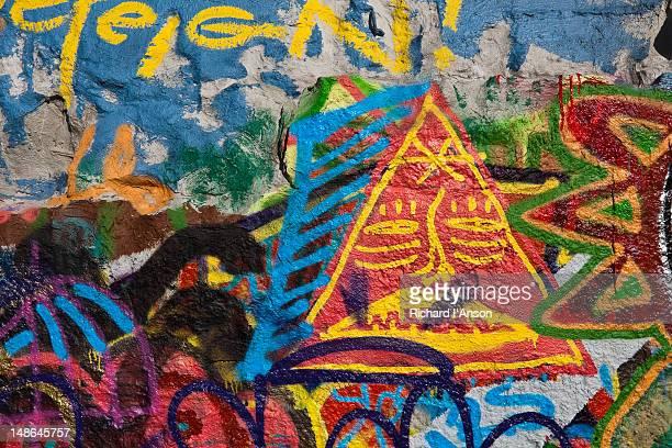 Graffiti on city wall.