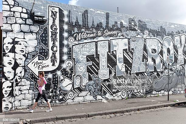 Graffiti on Fitzroy district