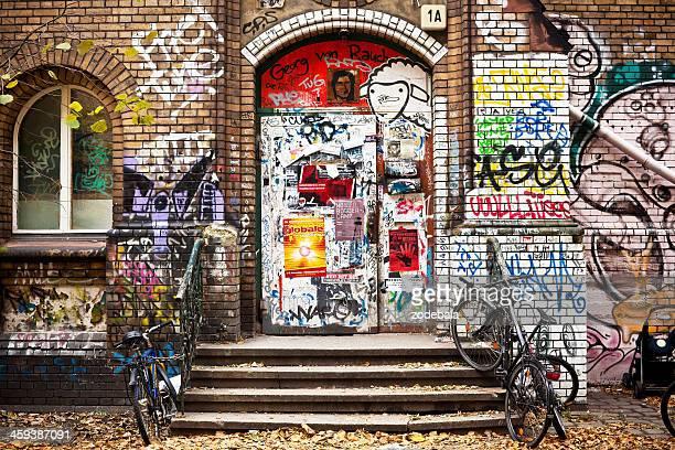 Graffiti auf belegten Palast in Berlin, Deutschland