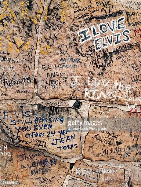 Graffiti on the wall at Graceland, Memphis