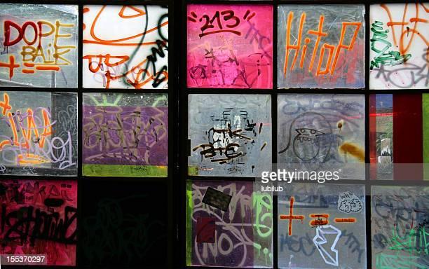 Graffiti on Windows  in Berlin (Series)