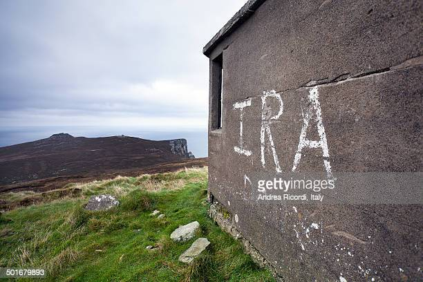 ira graffiti - irish republican army stock photos and pictures