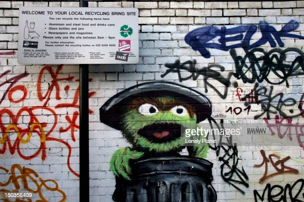 graffiti, shoreditch. - shoreditch stock photos and pictures