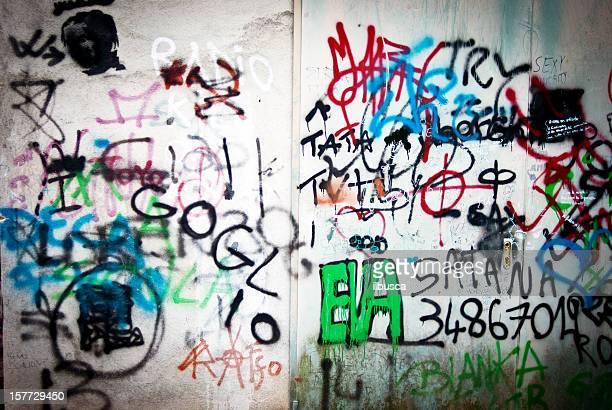 Graffiti Vandalismus grunge Wand Textur
