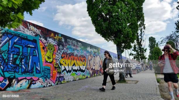 Graffiti wall Mauerpark Berlin