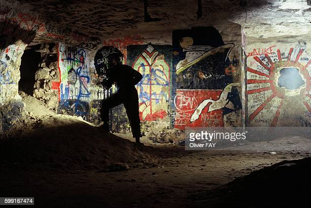 A graffitied room below the 14th district of Paris