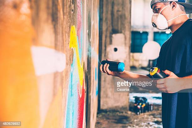 Grafitti artist at work