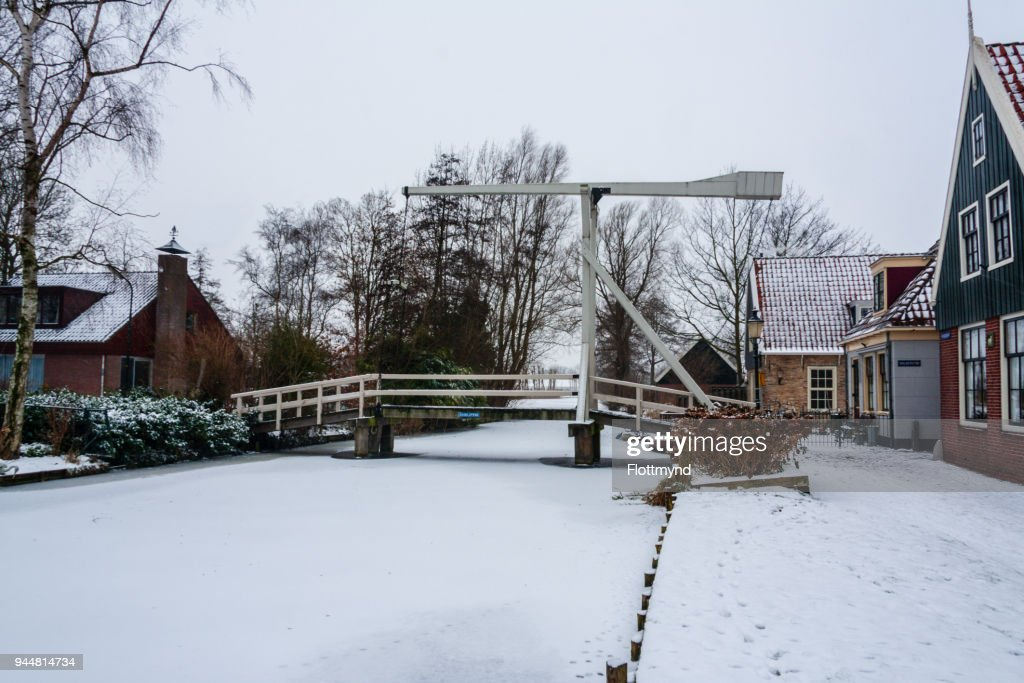 Graft de Rijp in a winter setting, the Netherlands : Stock Photo
