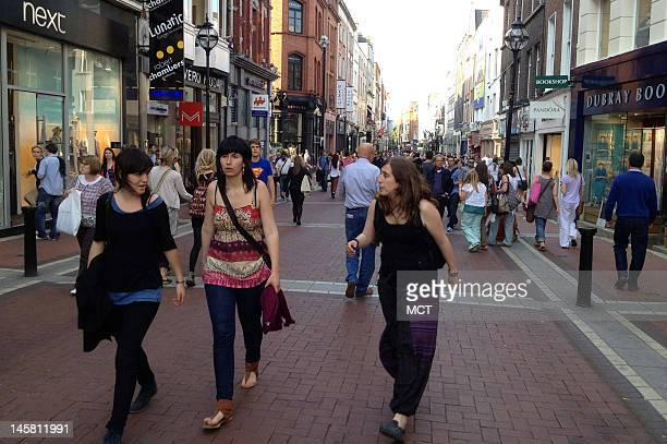 Grafton Street is the commercial heart of central Dublin Ireland on May 25 2012