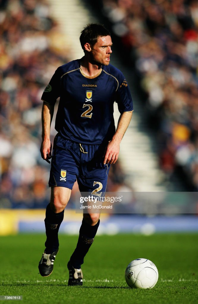 Graham Alexander of Scotland in action during the Euro2008, Group B qualifier between Scotland and Georgia on March 24, 2007 at Hampden Park, Glasgow, Scotland.