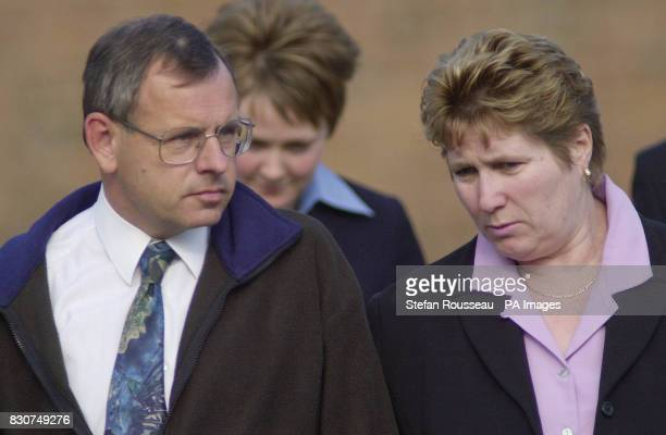 Graham and Lorinda Hall parents of murdered schoolgirl Vicky Hall leave Norwich Crown Court having attended the trial of Adrian Bradshaw of...