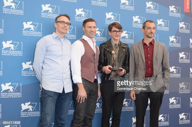 Graham AnnableTravis Knight Isaac HempsteadWright and Anthony Stacchi attend 'The Boxtrolls' photocall during the 71st Venice Film Festival on August...