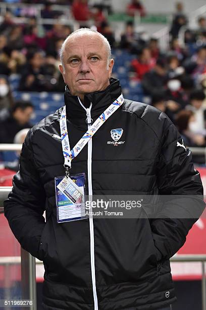 Graham Arnold head coach of Sydney FC looks on during the AFC Champions League Group H match between Urawa Red Diamonds and Sydney FC at Saitama...