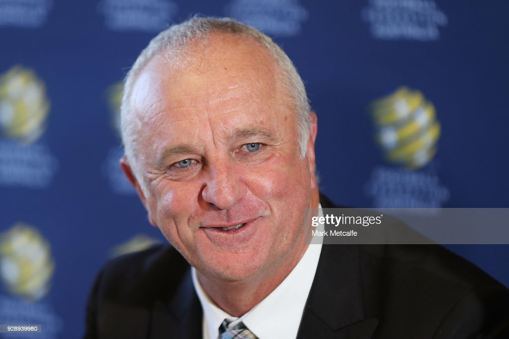 Graham Arnold speaks to the media during a press conference announcing the succession plan for long term appointment of head Socceroos coach, at FFA Headquarters on March 8, 2018 in Sydney, Australia.