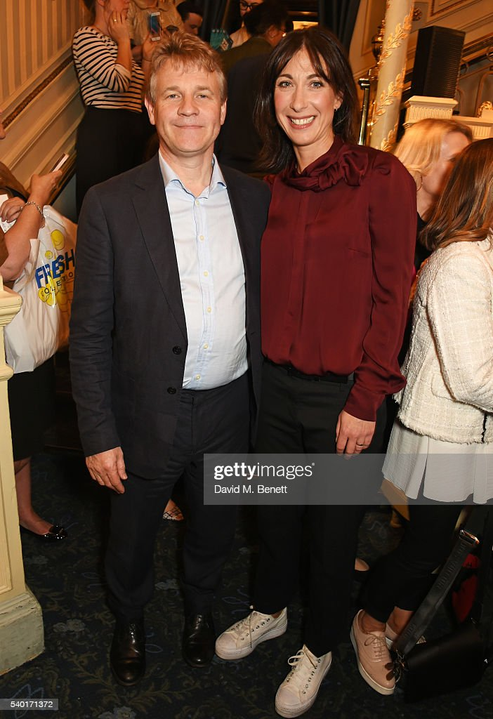 Graham Beech, Action on Addiction CEO, and Samantha Cameron attend the 'People, Places & Things' Charity Gala in aid of Action On Addiction at Wyndhams Theatre on June 14, 2016 in London, England.