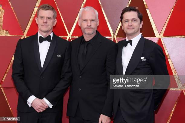 Graham Broadbent Martin McDonagh and Peter Czernin attend the 90th Annual Academy Awards at Hollywood Highland Center on March 4 2018 in Hollywood...