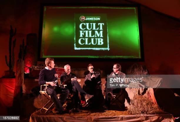 Graham Broadbent Martin McDonagh Sam Rockwell and Chris Hewitt attend the QA session at the Jameson Cult Film Club gala premiere of Seven Psychopaths...