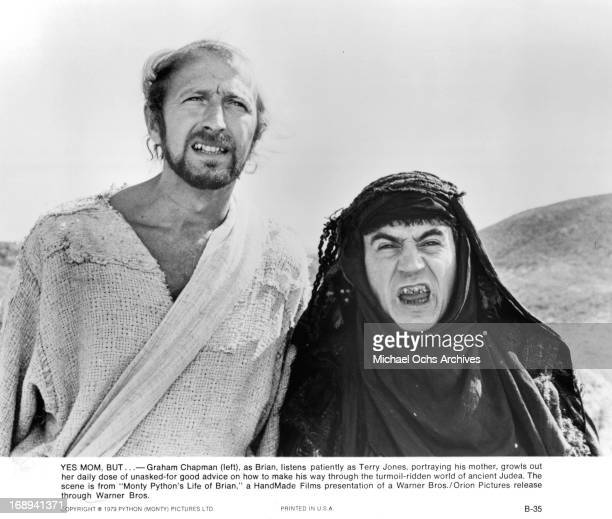 Graham Chapman and Terry Jones in a scene from the film 'Life Of Brian' 1979