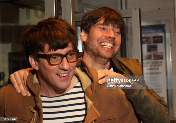 Graham Coxon and Alex James attend World Premiere of 'No Distance To Run' a documentary about the band Blur at Odeon West End on January 14 2010 in...