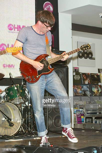 Graham Coxon during Graham Coxon Performs Selections from his New CD 'Happiness in Magazines' at HMV Store in London Great Britain