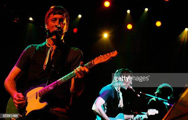 Graham Coxon performs on stage as support for Franz Ferdinand at the second in a series of 5 charity gigs in aid of the Teenage Cancer Trust which...
