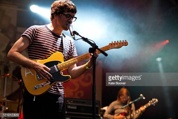 Graham Coxon performs on stage during Summer Sundae Festival at De Montfort Hall And Gardens on August 12 2011 in Leicester United Kingdom