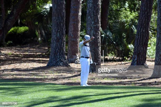 Graham DeLaet during the final round of the RBC Heritage Presented by Boeing Golf Tournament on April 16 at Harbour Town Golf Links in Hilton Head...
