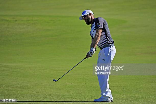 Graham DeLaet of Canada chips the ball during the second round of the Shriners Hospitals For Children Open on October 23 2015 at TPC Summerlin in Las...