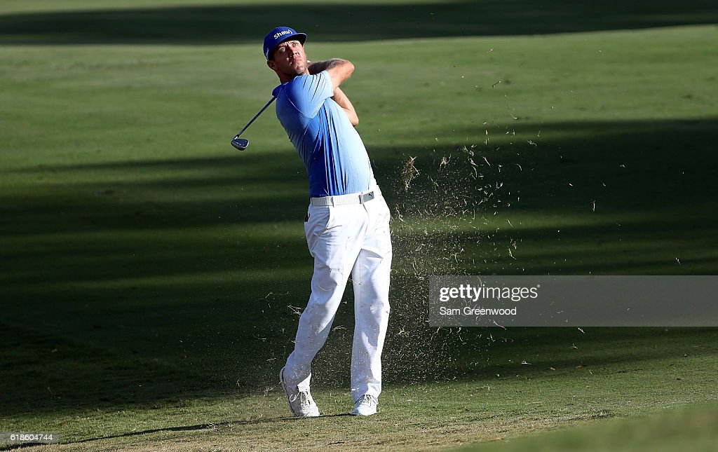 Graham DeLaet of Canada plays his second shot on the 18th hole during the First Round of the Sanderson Farms Championship at the Country Club of Jackson on October 27, 2016 in Jackson, Mississippi.