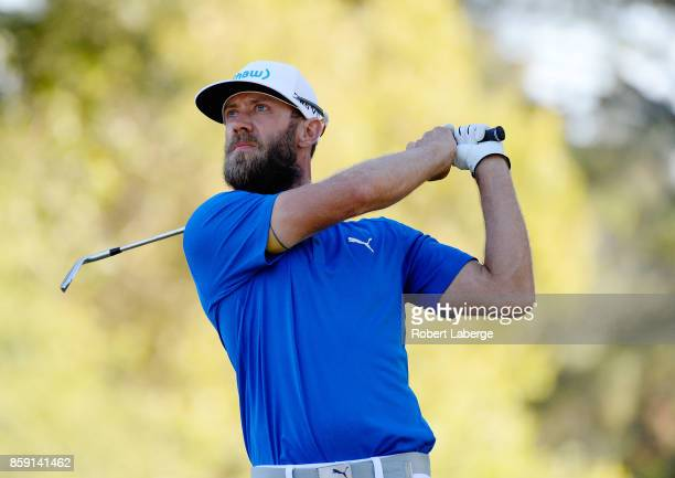 Graham DeLaet of Canada plays his shot from the 15th tee during the final round of the Safeway Open at the North Course of the Silverado Resort and...