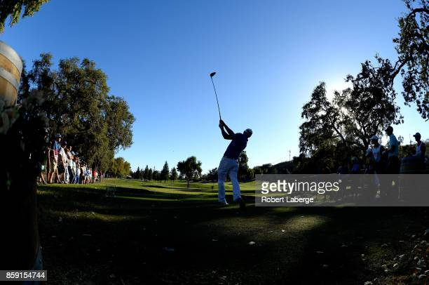 Graham DeLaet of Canada plays his shot from the 16th tee during the final round of the Safeway Open at the North Course of the Silverado Resort and...