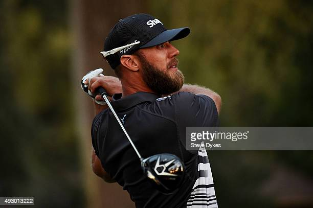 Graham DeLaet of Canada plays his shot from the 18th tee during the second round of the Fryscom Open on October 16 2015 at the North Course of the...