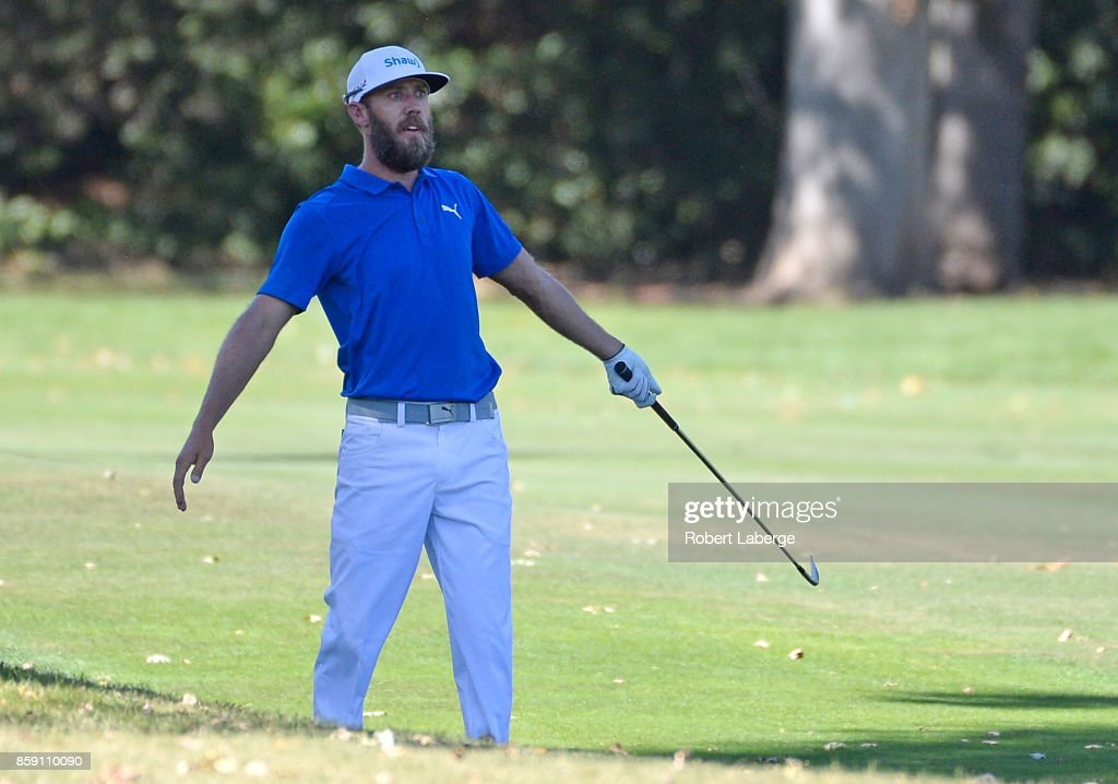Graham DeLaet of Canada plays his shot on the fifth hole during the final round of the Safeway Open at the North Course of the Silverado Resort and Spa on October 8, 2017 in Napa, California.