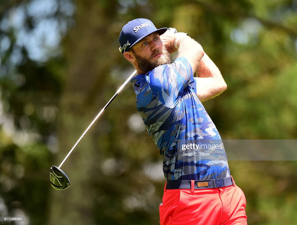 Graham DeLaet of Canada tees off the sixth hole during the final round of The Greenbrier Classic held at the Old White TPC on July 9, 2017 in White Sulphur Springs, West Virginia.
