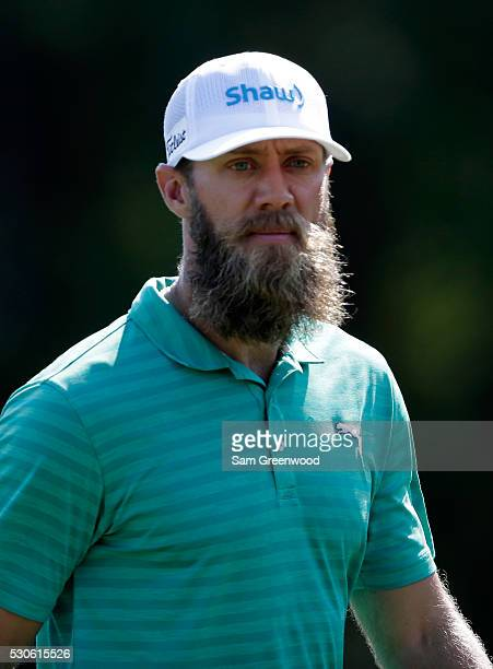 Graham DeLaet of Canada watches his shot during a practice round prior to THE PLAYERS Championship at the TPC Stadium course on May 11 2016 in Ponte...