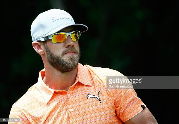 Graham DeLaet of Canada watches his tee shot on the first hole during the third round of the HP Byron Nelson Championship at the TPC Four Seasons on...