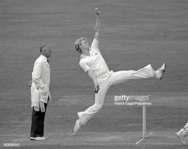 LONDON JULY 3 Graham Dilley bowling 2nd Test England v Australia Lord's July 1981