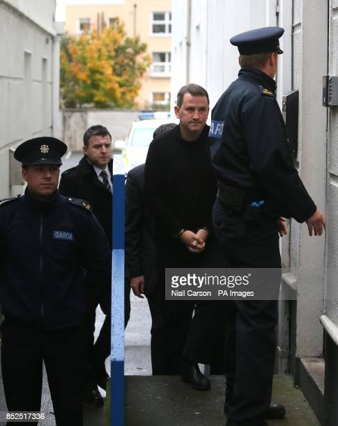 Graham Dwyer from Foxrock in Dublin appears at Dun Laoghaire District Court in Dublin charged with the murder of Elaine O'Hara