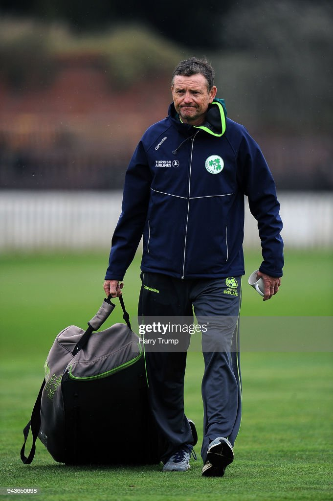 Graham Ford, Head Coach of Ireland during Day Four of the Friendly match between Somerset and Ireland at The Cooper Associates County Ground on April 9, 2018 in Taunton, England.