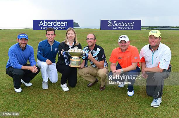 Graham Fox of Clydway Golf Callum Hill of Tantallion Golf Club Ellie Manwairing of Aberdeen Asset Management Greig Sutherland of Cherry Lodge Golf...