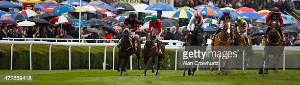 Graham Gibbons riding Newstead Abbey ease down after winning The Betfair Earl Grosvenor Handicap Stakes at Chester racecourse on May 08 2015 in...