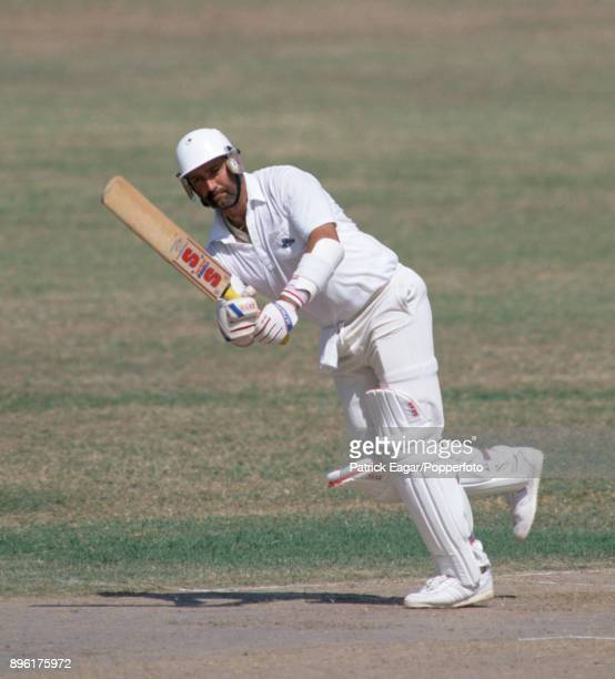 Graham Gooch batting for England during his innings of 239 in the tour match between Jamaica and England XI at Sabina Park Kingston Jamaica 19th...