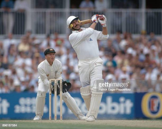 Graham Gooch batting for England during the 6th Test match between England and Australia at The Oval London 19th August 1993 The wicketkeeper for...